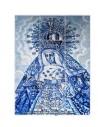 Retablo de 12 azulejos de la Virgen de la Macarena de Sevilla