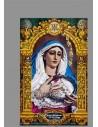 Azulejo rectangular con la Virgen de las Penas de Cádiz (Cofradía de La Palma)