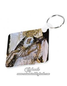Llavero cuadrado de Nuestra Señora de las Angustias de Cordoba en tu tienda ARTESANIA DEL COFRADE