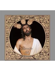 Azulejo cuadrado de Nuestro Padre Jesús Despojado de sus Vestiduras de Sevilla