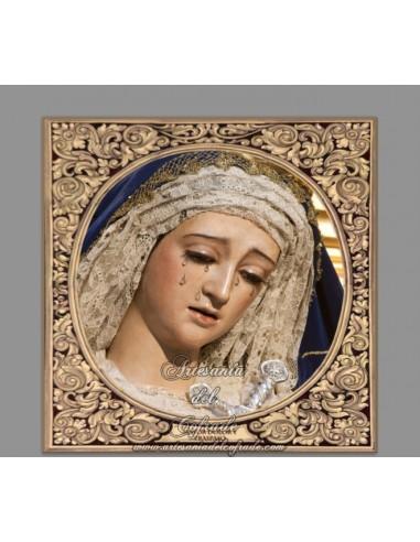 Precioso Azulejo cuadrado de María Santísima del Mayor Dolor y Traspaso de Sevilla
