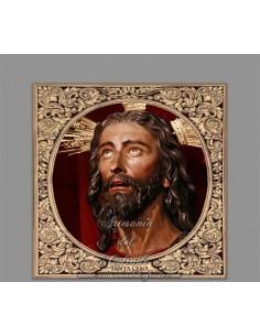 Azulejo cuadrado del Cristo de la Santa Cena de Sevilla