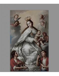 Azulejo rectangular de la Virgen de la Merced
