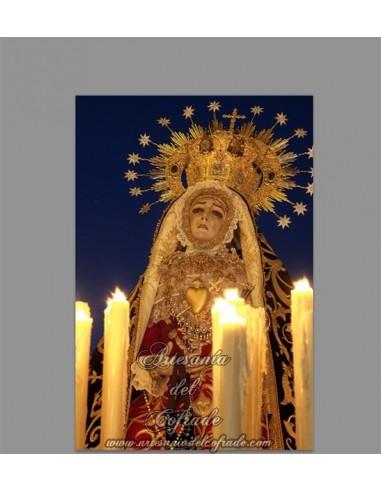 Baldosa de céramica con la Virgen de los Dolores de Cordoba