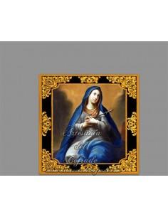 Azulejo cuadrado de Virgen dolorosa