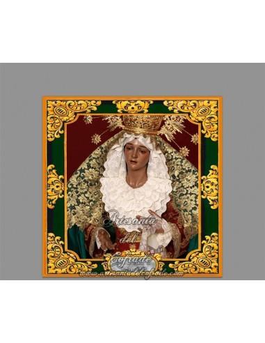 Azulejo cuadrado de la Virgen de la Esperanza