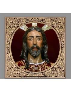 Precioso Azulejo cuadrado de Jesús antes Anás de Sevilla