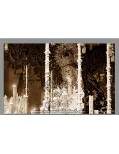 Precioso azulejo rectangular de la Virgen de la Estrella