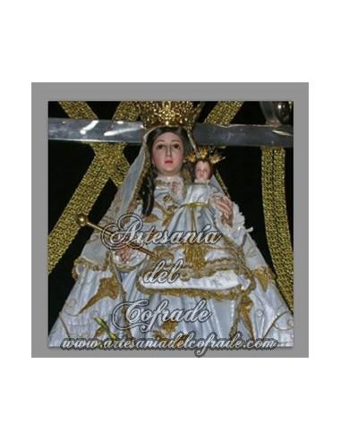 Azulejo cuadrado de la Virgen de Gracia de Alcantarilla (patrona de Belalcázar)