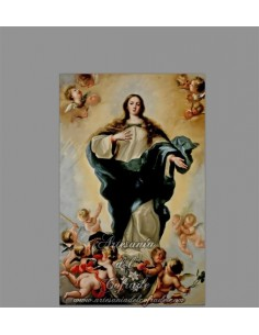 Precioso azulejo rectangular de la virgen Inmaculada