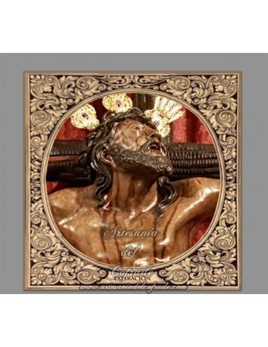 Precioso Azulejo cuadrado del Cristo de la Expiración del Museo (Sevilla)