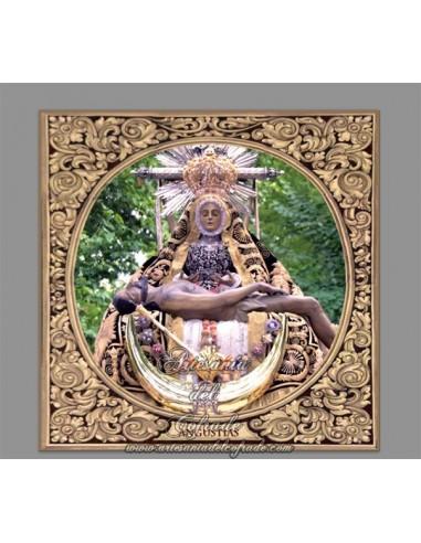Azulejo cuadrado de la virgen de las Angustias de Granada