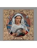 Precioso Azulejo cuadrado de la virgen de las Tristezas (Sevilla)