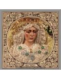 Baldosa de cerámica de la Virgen Esperanza Macarena de Sevilla