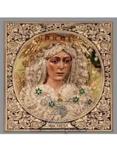 Azulejo cuadrado de la Virgen Esperanza Macarena de Sevilla