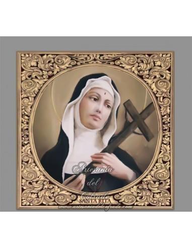 En venta este bonito azulejo cuadrado de Santa Rita - Tienda Religiosa