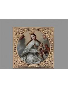 Azulejo cuadrado de la Virgen de la Merced