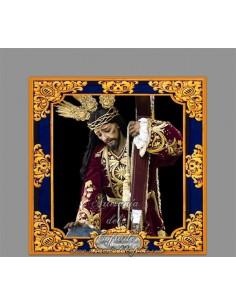 Azulejo cuadrado del Cristo de la Misericordia de Málaga
