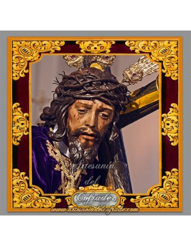 Precioso Azulejo cuadrado de Nuestro Padre Jesús Nazareno (LEbrija)
