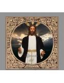 Azulejo cuadrado del Cristo de Jesús en su Redención en el beso de Judas de Sevilla