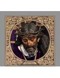 Azulejo cuadrado de Nuestro Padre Jesús con la Cruz al Hombro de Sevilla