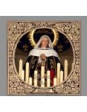 Azulejo cuadrado de Nuestra Señora de la Soledad Coronada de Malaga