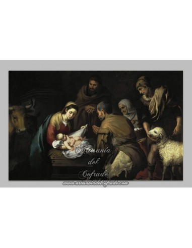 Precioso azulejo rectangular del Nacimiento de Jesús