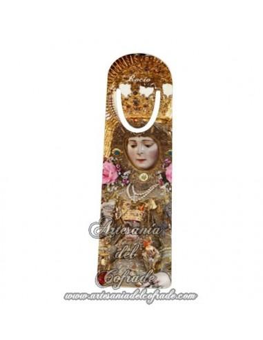 Marca página con la Virgen del Rocio.