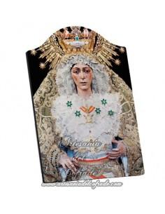 Capilla Placa madera de la virgen de la Esperanza Macarena