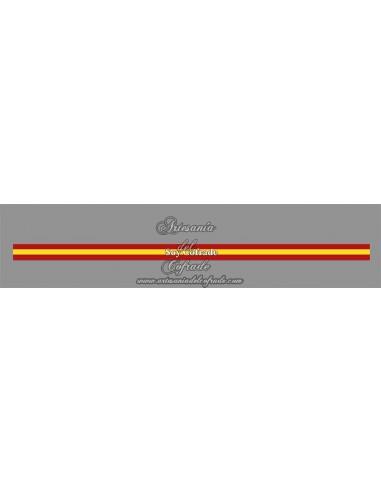 Pulsera de tela con el texto SOY COFRADE y bandera España