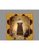 Azulejo cuadrado con greca de santa angela de la cruz