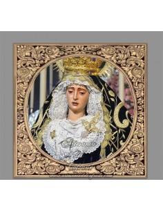 Precioso Azulejo cuadrado de la Virgen del Valle de Sevilla