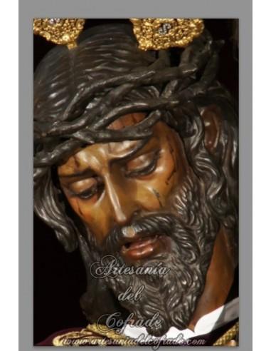 azulejo rectangular de Nuestro Padre Jesús de la Salud (Hermandad de los Gitanos)