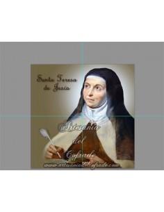 Retablo de 4 azulejos de Santa Teresa de Jesús