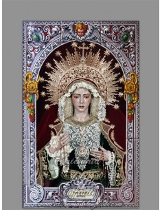 Azulejo rectangular de María Santísima del Rocío (Hermandad de la Redención de Sevilla)