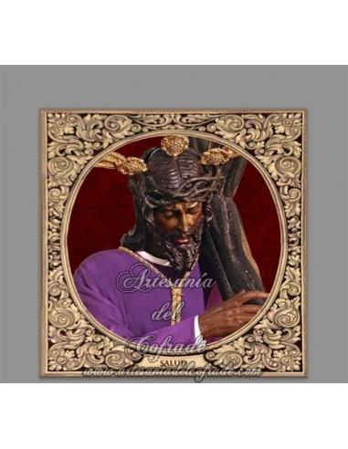 Azulejo cuadrado de Nuestra Señor de la Salud (Hermandad de los Gitanos, Sevilla)