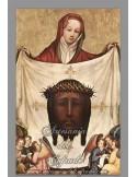 Preciosa reprodución en azulejo rectangular de la Santa faz
