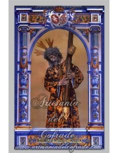 Azulejo rectangular de Nuestro Padre Jesús del Gran Poder de Sevilla