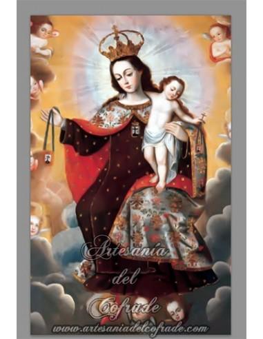 Azulejo rectangular de la Virgen del Carmen