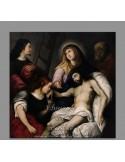 Reprodución en Azulejo de la escena del descendimiento de Cristo