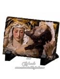 Pizarra rectangular de la virgen de las Angustias de Cordoba
