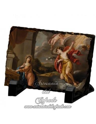 Pizarra rectangular de la anunciación de María.