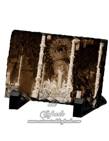 Pizarra rectangular de la virgen de la Estrella de Sevilla