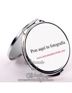 Espejo redondo de bolso personalizado con su fotografía