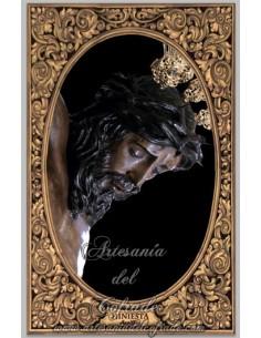 Azulejo rectangular del Cristo de la Hiniesta de Sevilla