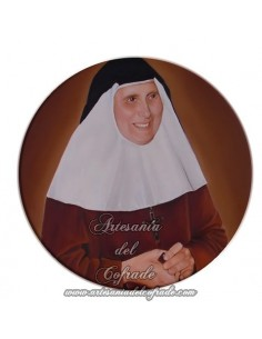 Imán redondo plastico de Madre María Purisima
