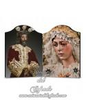Doble Capilla de Placa madera con los titulares de la Macarena de Sevilla