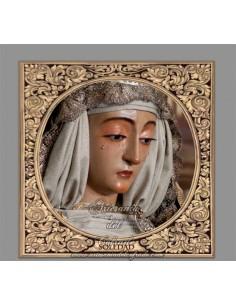 Azulejo cuadrado de la Virgen de la Soledad (Cantillana)