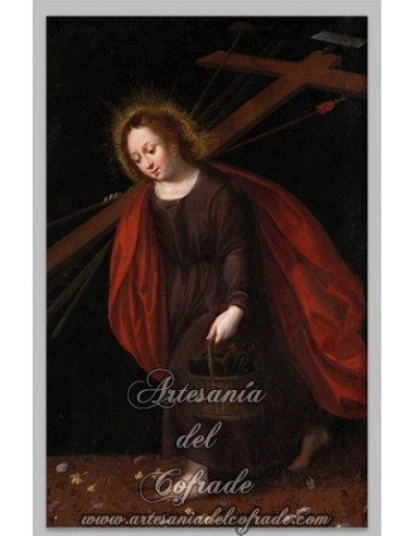 Espectacular azulejo rectangular de Niño Jesús pasionario.