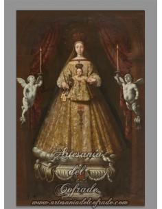 Bonito azulejo rectangular de la Virgen de la Merced